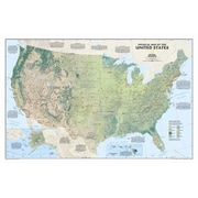 National Geographic Maps United States Physical Wall Map; Standard (25'' x 38'')