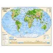 National Geographic Maps Kids Physical World Wall Map (Grades 4-12)