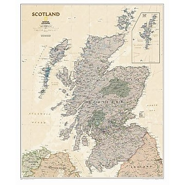 National Geographic Maps Scotland Executive Wall Map; Paper