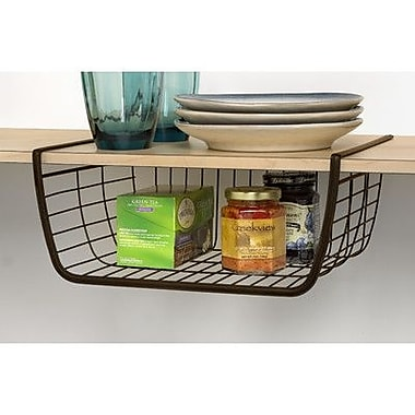 Spectrum Diversified Ashley Under Shelf Basket; Powder Coated Satin Nickel