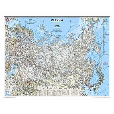 National Geographic Maps Russia Classic Wall Map; Laminated (23'' x 30'')
