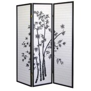 ORE Furniture 70'' x 51'' Bamboo 3 Panel Room Divider