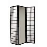 ORE Furniture 70.25'' x 30'' Mirrored 3 Panel Room Divider
