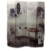 ORE Furniture 71'' x 64'' Poet's Dream Chinese Painting 4 Panel Room Divider