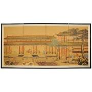 Oriental Furniture 36'' x 72'' Dynasty Courtyard 4 Panel Room Divider