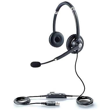 Jabra® UC Voice™ 750 Duo Corded Headset, Black