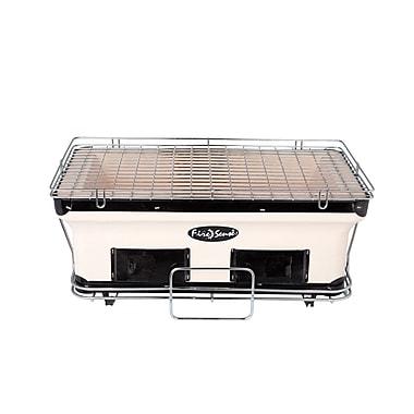 Fire Sense® HotSpot Large Rectangle Yakatori Charcoal Grill, Tan