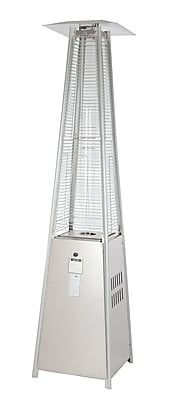 Fire Sense® 40000 BTU Stainless Steel Pyramid Flame Heater, Silver