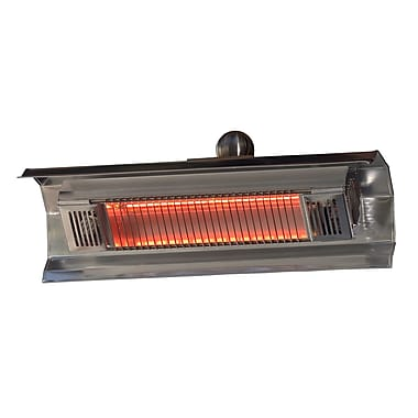 Fire Sense® 1500W Stainless Steel Wall Mounted Infrared Patio Heater, Silver