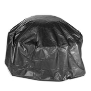 "Fire Sense® 24"" x 42""Dia Large Vinyl Cover For Outdoor Round Fire Pit, Black"
