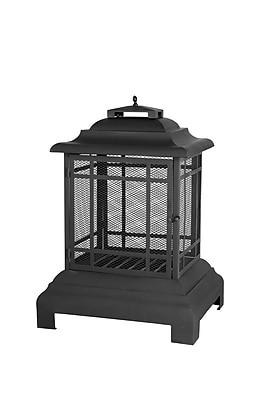 Fire Sense® Rectangle Pagoda Patio Fireplace, Black