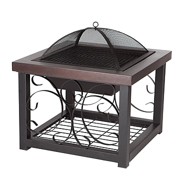 Fire Sense® Cocktail Table Fire Pit, Hammer Tone Bronze