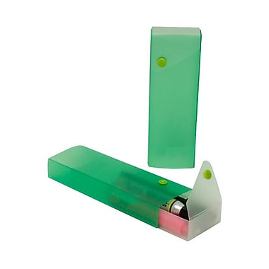JAM Paper® Sliding Plastic Pencil Case, Green, Sold Individually (2166513298)