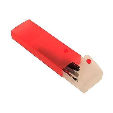 Jam PaperMD – Étui à crayons coulissant, rouge, paq./10
