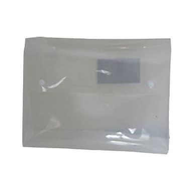 JAM PaperMD – Porte-documents avec fermeture à deux boutons pression, 9 1/2 x 12 1/2 x 3/4 po, translucide, 4/paquet