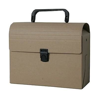 JAM Paper® Reusable Plastic Lunch Box, 6 x 9 x 4, Recycled Brown Kraft, Sold Individually (338565)