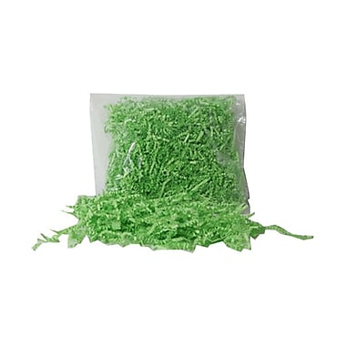 JAM Paper® Shred Tissue Paper Krinkeleen, 2 oz., Lime Green, Sold Individually (1192457)