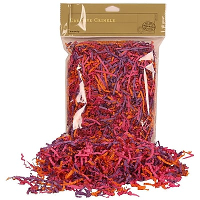 JAM Paper® Shred Tissue Paper Krinkeleen, 2 oz., Pink/Purple/Orange Mix, Sold Individually (11924298)