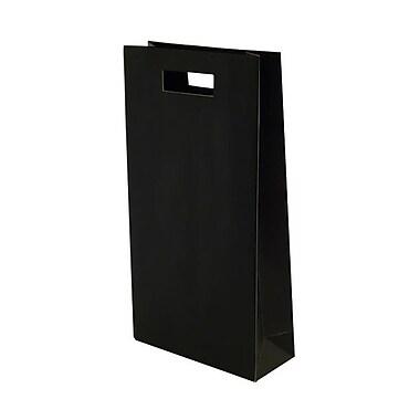 JAM Paper® Die Cut Wine Bag, Double Bottle, 8.25 x 3.38 x 15, Black, 12/Pack (679DCblg)