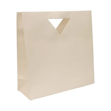 JAM Paper® Die Cut Gift Bag, Large, 15 x 5.5 x 15, White, 12/Pack (895DCwhg)
