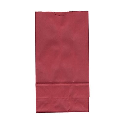 JAM Paper® Kraft Lunch Bags, Small, 4.125 x 8 x 2.25, Red, 500/box (690KRREB)