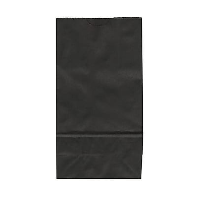 JAM Paper® Kraft Lunch Bags, Small, 4.125 x 8 x 2.25, Black, 500/box (690KRBLB)