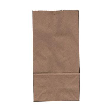JAM PaperMD – Sacs-repas en papier Kraft, format moyen, 5 x 9,75 x 3 po, papier Kraft brun recyclé, 500/paquet (691KRBRB)