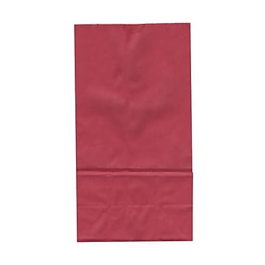 JAM Paper® Kraft Lunch Bags, Large, 6 x 11 x 3.75, Red, 25/pack (692KRRE)