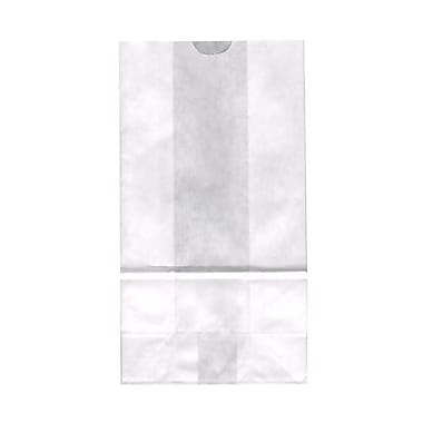 JAM Paper® Kraft Lunch Bags, Large, 6 x 11 x 3.75, White, 500/Pack (692KRWHB)