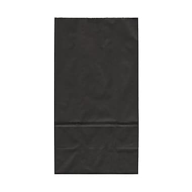JAM Paper® Kraft Lunch Bags, Large, 6 x 11 x 3.75, Black, 25/pack (692KRBL)