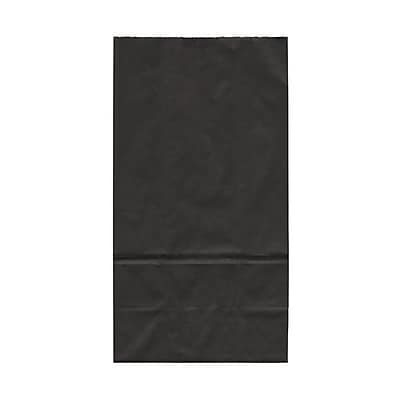 JAM Paper® Kraft Lunch Bags, Large, 6 x 11 x 3.75, Black, 500/box (692KRBLB)