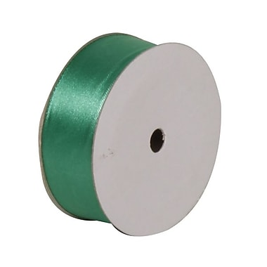 JAM Paper® Satin Ribbon, 7/8 Inch Wide x 7 Yards, Emerald Green, Sold Individually (2133716393)