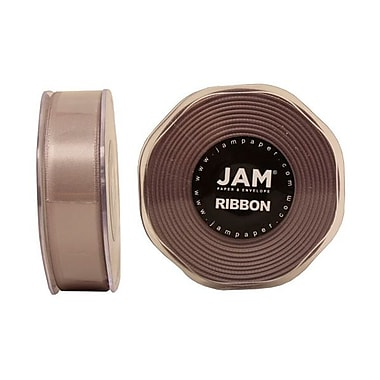 JAM Paper® Double Faced Satin Ribbon, 7/8 Inch Wide x 25 Yards, Silver, Sold Individually (807SASI25)