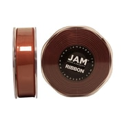 JAM Paper® Double Faced Satin Ribbon, 7/8 Inch Wide x 25 Yards, Chocolate Brown, Sold Individually (807SACHB25)