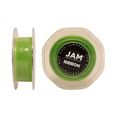 JAM Paper® Sheer Organza Ribbon, 7/8 Inch Wide x 25 Yards, Apple Green, Sold Individually (807SHAPPGR25)