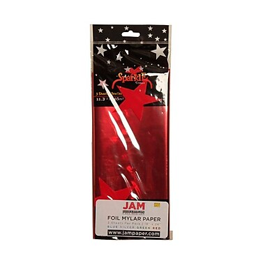 JAM Paper® Tissue Paper, Red, 3/Pack (1172415)