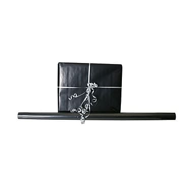 JAM Paper® Solid Gift Wrapping Paper, 12.5 sq. ft., Glossy Black, 5/Pack (27705937g)