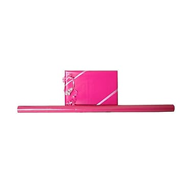 JAM Paper® Solid Gift Wrapping Paper, 12.5 sq. ft., Glossy Hot Pink, 5/Pack (27705939g)