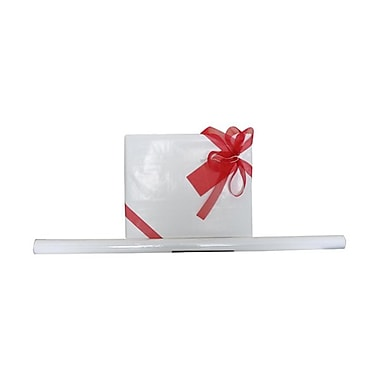 JAM Paper® Solid Gift Wrapping Paper, 12.5 sq. ft., Glossy White, 5/Pack (7706308g)