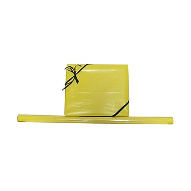 JAM Paper® Solid Gift Wrapping Paper, 12.5 sq. ft., Glossy Yellow, 5/Pack (27705944g)
