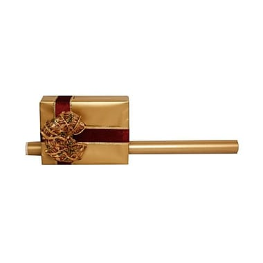 JAM Paper® Foil Gift Wrapping Paper, Jumbo, 30 sq. ft., Gold Matte, 2/Pack (277315969g)