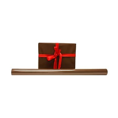 JAM Paper® Gift Wrapping Paper, 25 sq. ft., Matte Chocolate Brown, 3/Pack (377011201g)