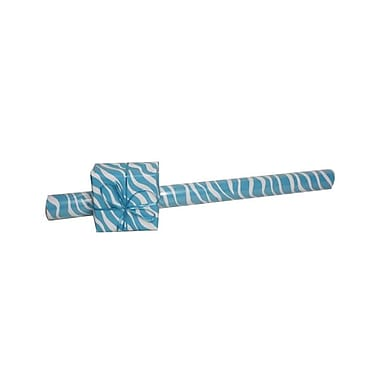 JAM Paper® Gift Wrapping Paper, Jumbo, 40 sq. ft., Blue Safari, 3/Pack (2226617004g)