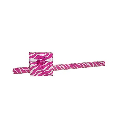 JAM Paper® Gift Wrapping Paper, Jumbo, 40 sq. ft., Pink Safari, 3/Pack (2226617005g)