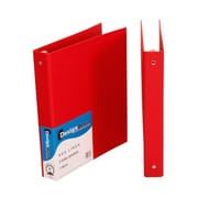 JAM Paper® Premium Linen Textured 3 Ring Binders, 1 Inch, Red, Sold Individually (751LRE)