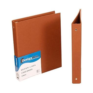 JAM PaperMD – Reliure en lin, 1 po, brun, pqt/48