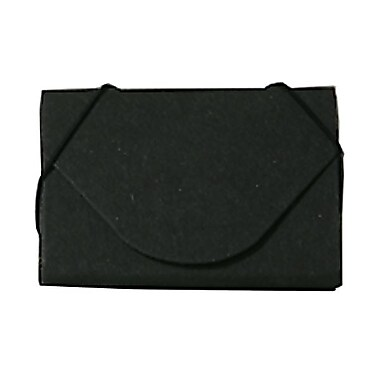 JAM Paper® Chipboard Business Card Cases With Round Flap