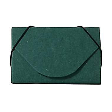 JAM Paper® Kraft Ecoboard Business Card Case, Green Recycled Kraft, 5/Pack (2500 206g)