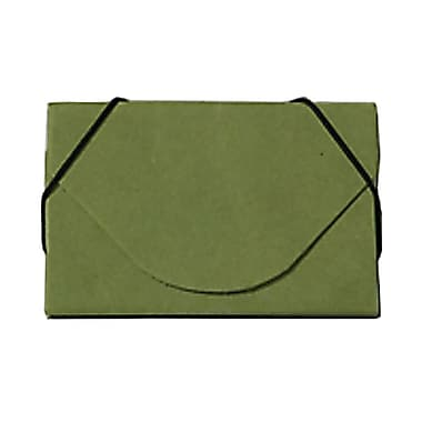 JAM Paper® Kraft Ecoboard Business Card Case, Lime Green Recycled Kraft, Sold Individually (2500 207)