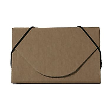 JAM Paper® Kraft Ecoboard Business Card Case, Natural Brown Recycled Kraft, 5/Pack (2500 201g)